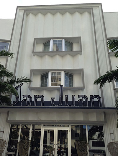 San Juan art deco building, Miami