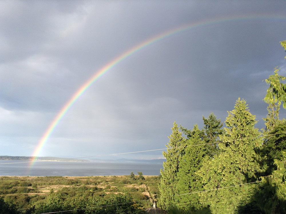 Rainbow at Island View Beach
